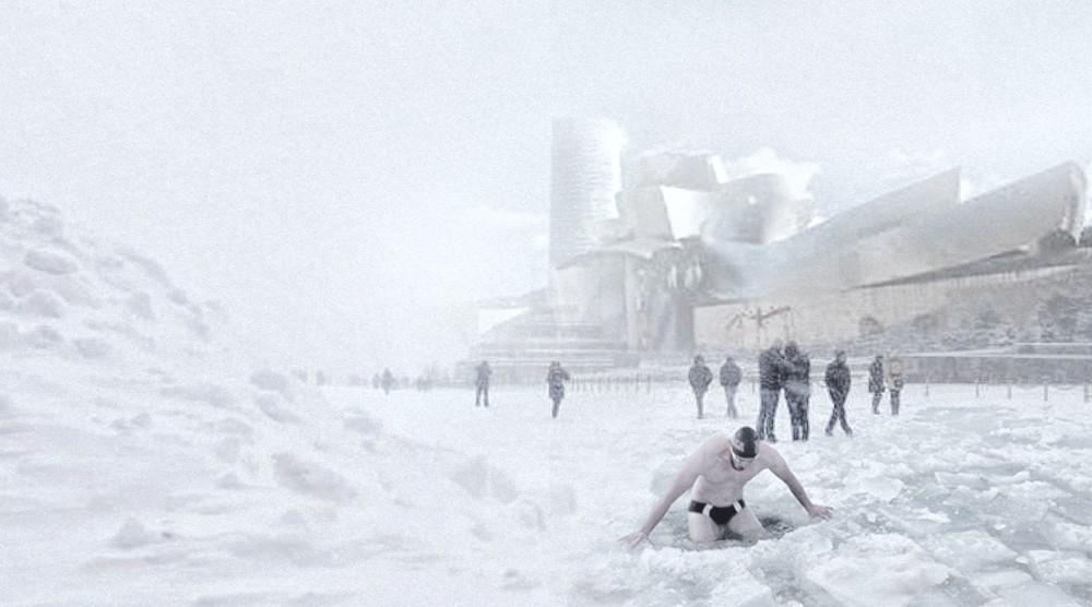 Niko Vázquez,fotomontajes,nevada,Bilbao,Guggenheim