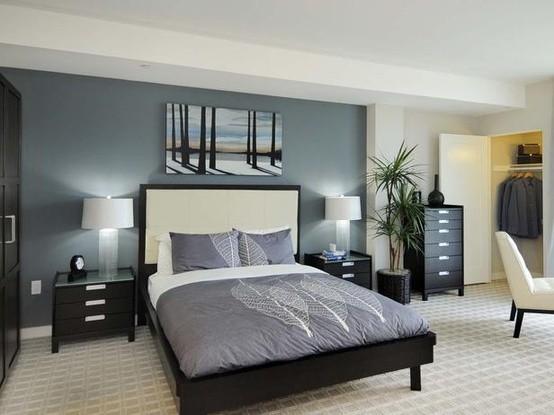 Habitacion Matrimonial Decoradas ~ Dormitorios con paredes grises  Dormitorios colores y estilos
