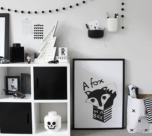 Decoração com preto, branco e cinza Inspirações  ~ Quarto Preto E Branco Tumblr