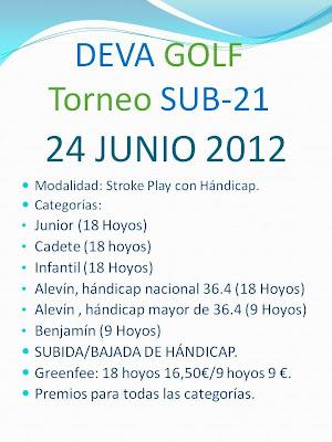 torneo Sub 21 Deva Golf