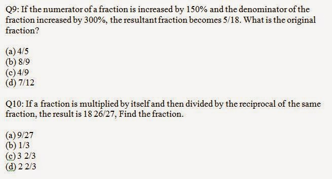 Quantitative Aptitude Fractions Problem and Solution