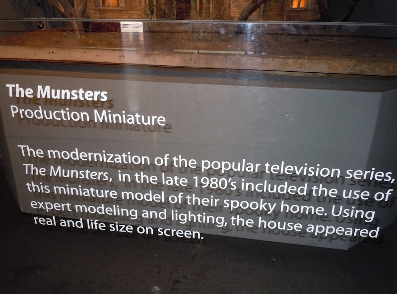 The Munsters production miniature display