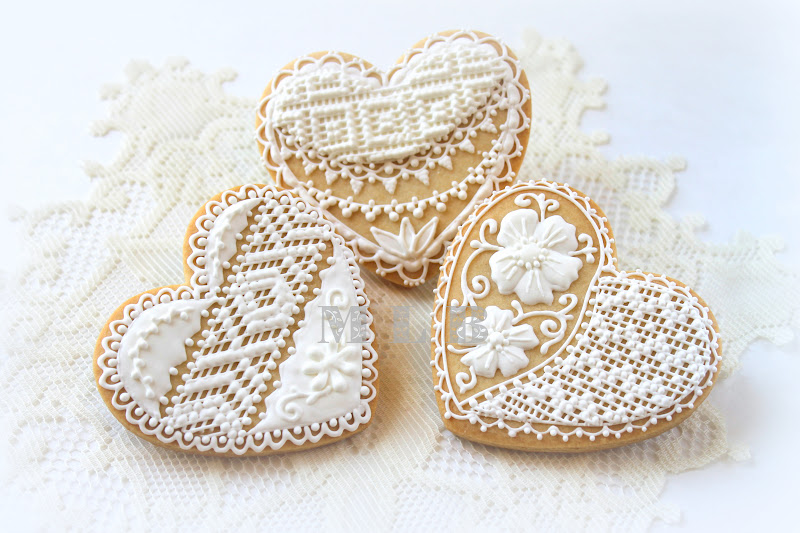 My little bakery 🌹: Lace heart cookies