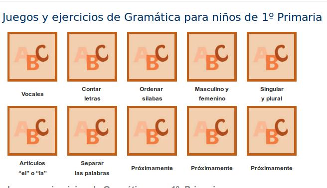 http://www.mundoprimaria.com/juegos-lenguaje/juegos-ejercicios-gramatica-1o-primaria