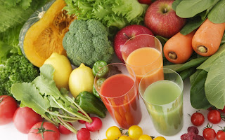 fresh fruits and vegetables juice