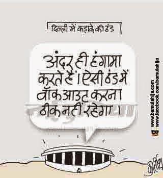 winter, delhi, parliament, cartoons on politics, indian political cartoon