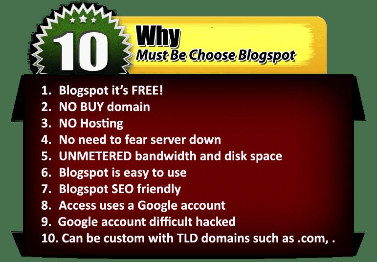 saya memiliah minisite blogspot template