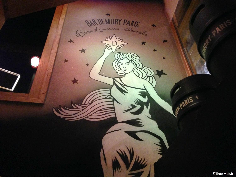 Bar à bières brasserie parisienne demory bières blondes mascotte logo femme