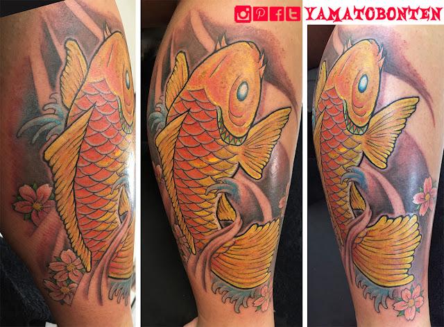 #koi,#koifish,#tattoo,#tattoos,#inked,#japanesetattoo,#tokyotattoo,#yamatobonten,大和梵天,#東京の刺青スタジオ,和彫り,#刺青