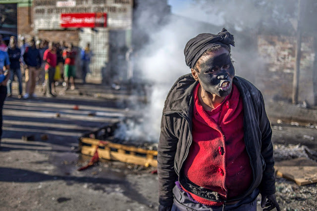 South African rioter