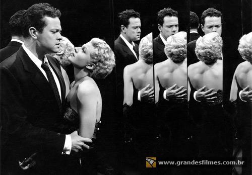 Rita Hayworth e Orson Welles em A Dama de Shangai