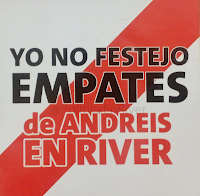 Yo no festejo empates De Andreis en River Plate