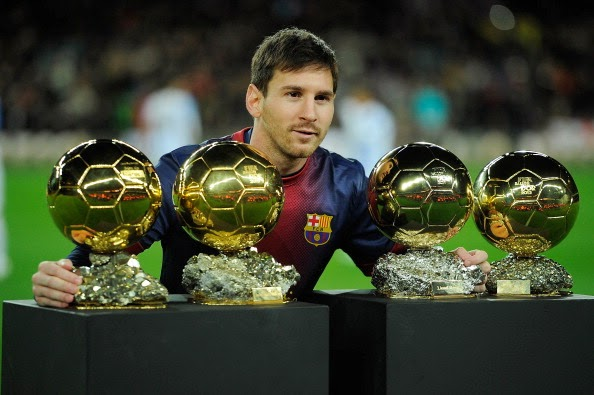 lionel messi 4 golden balls