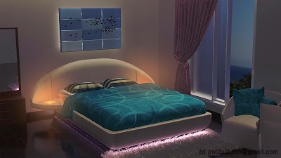 3d interior, bedroom, 3d model, aakash patil, mimarathiap, 3d.patilaakash, narewadi,