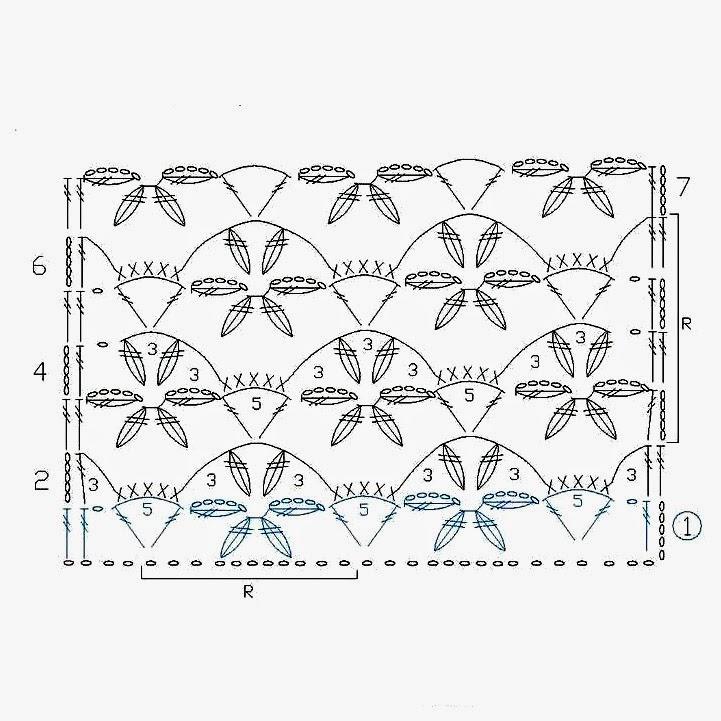 Вязание цветков крючком узоры и схемы 92