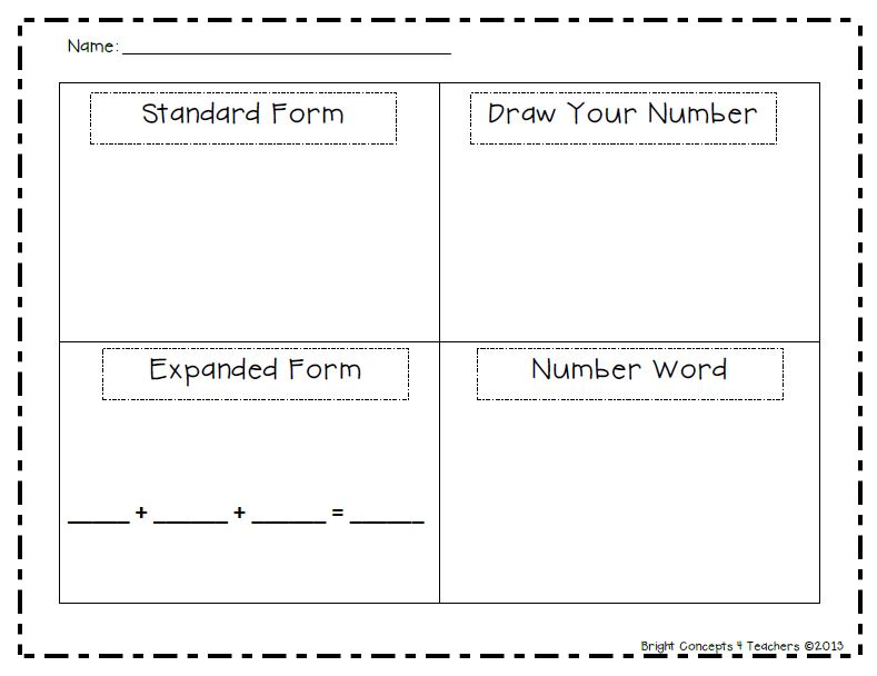 Place Value Worksheets Free Place Value Worksheets Expanded Form – Expanded Form Worksheets