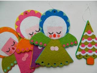 Anjos na decoração de natal