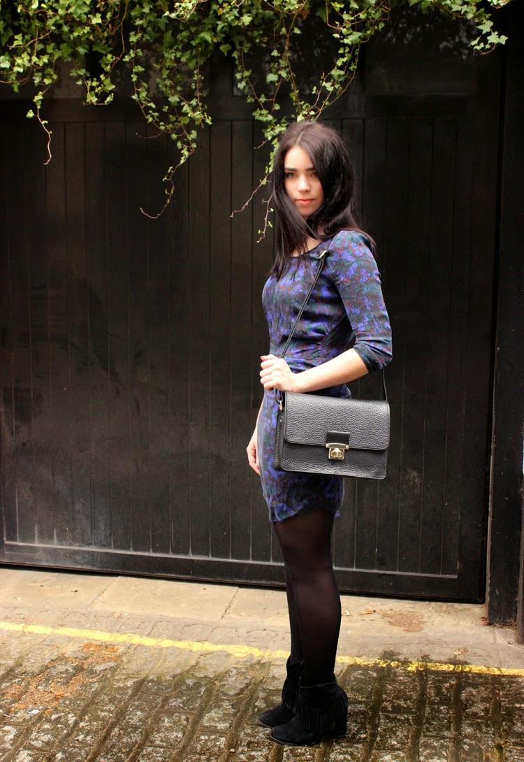 Purple print Comptoir de Cotonniers dress
