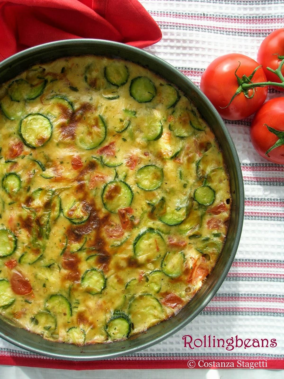crostata salata di zucchine e maggiorana