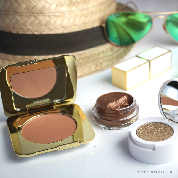 Tom Ford Summer 2015 Soleil Collection, Tom Ford Bronzing Powder Gold Dust, Tom Ford Cream & Powder Eye Color Naked Bronze, Review, Swatch, tom ford foundation review, tom ford lip sheer review