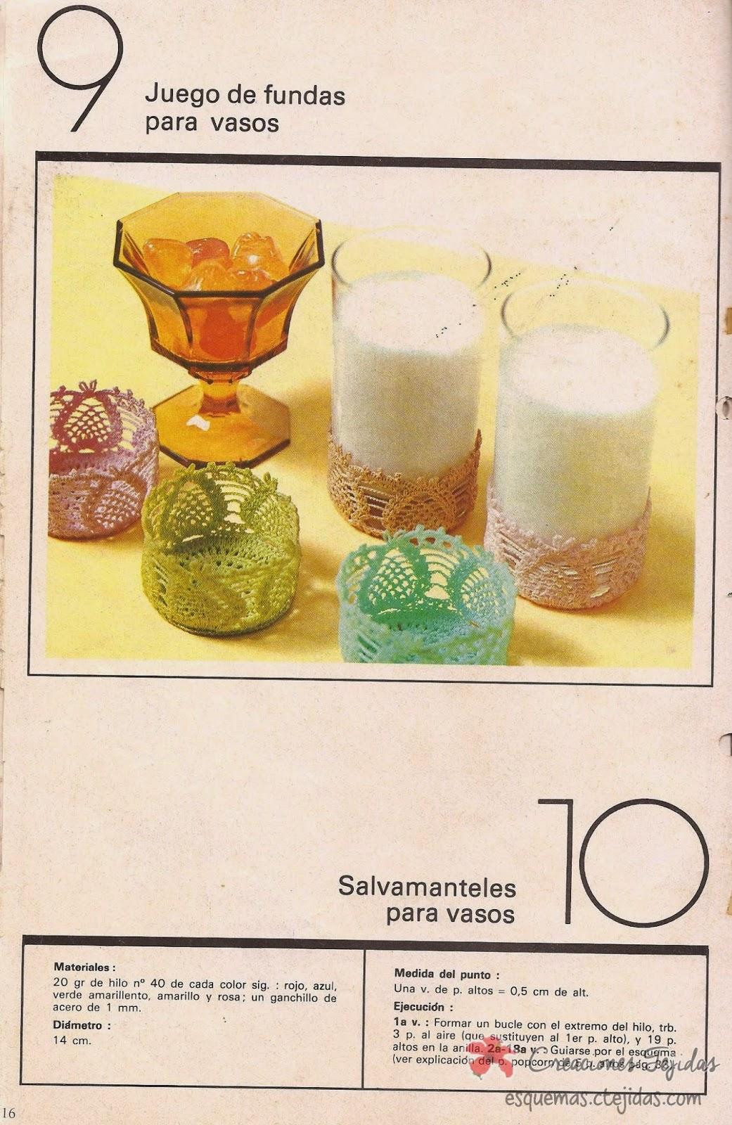 Salvamanteles para Vasos a Crochet