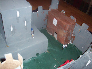 Completed paper mache castle! Barracks