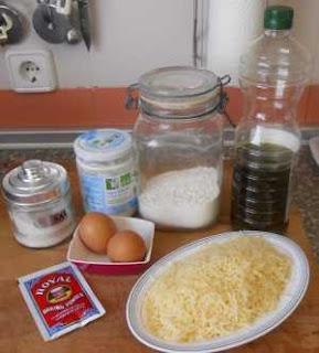 Ingredientes para las Arepas de queso.