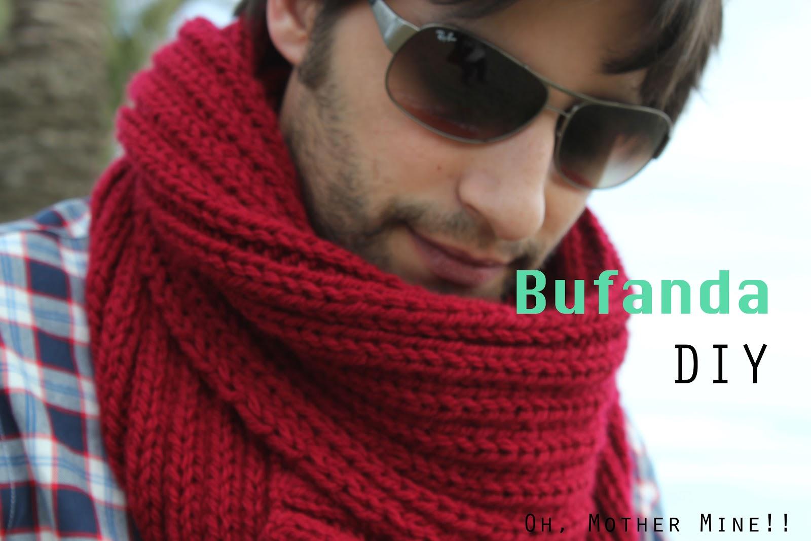 Cómo hacer una bufanda para hombre, regalo de Navidad.