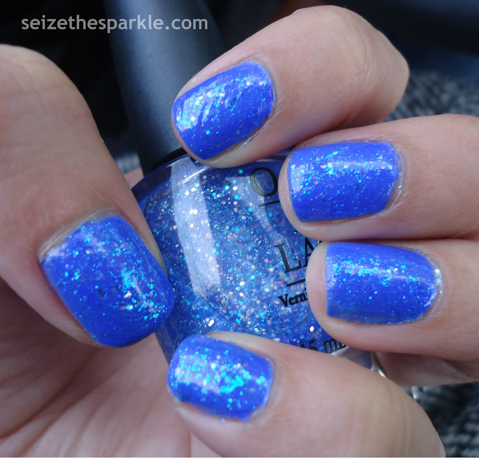 Bright Blue Jelly Glitter Sandwich