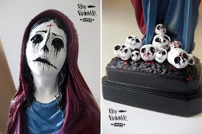 And you will know me by the trail of dead 2.0 Santa Muerte Statue by Ritzy Periwinkle