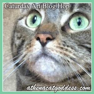 Athena Cat Goddess Wise Kitty's Caturday Art Blog Hop