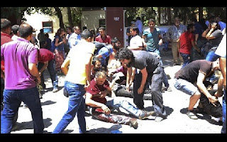 Explosão no centro cultural em Suruç, no sudeste da Turquia, entre à fronteira com a Síria, fez pelo menos 30 mortos e mais de 100 feridos.