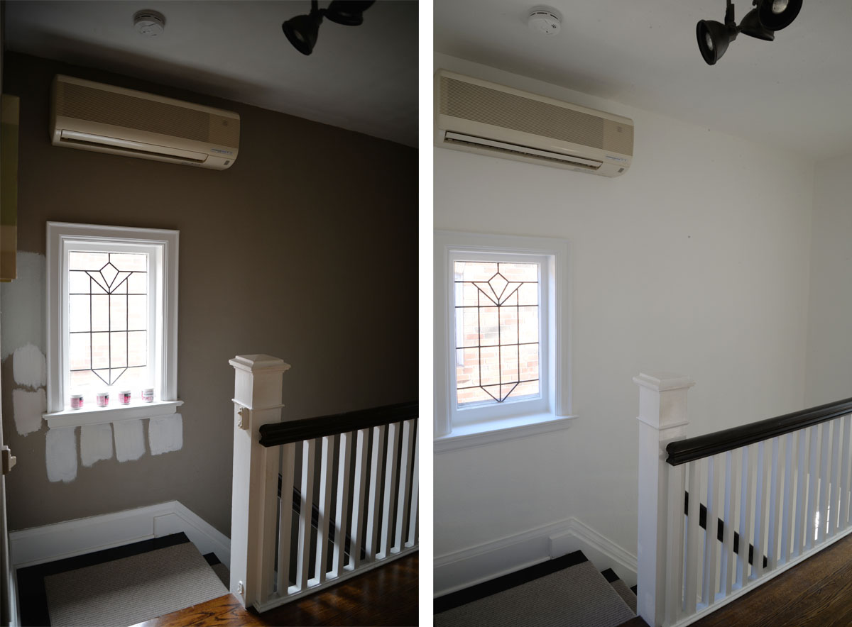 paint colors for hallwaysA Bright White Hallway  Rambling Renovators