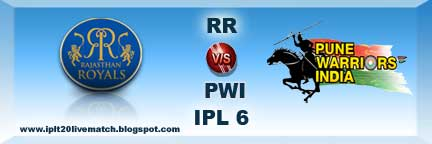 IPL Season 6 RR vs PWI Live Streaming Video and RR vs PWI IPL Records
