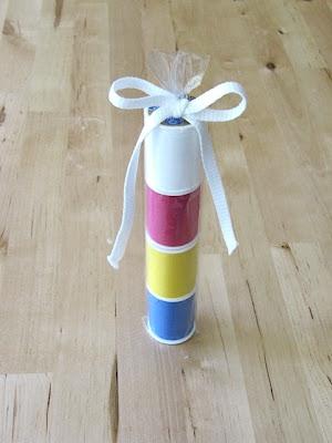 pretzel bag gift wrap idea
