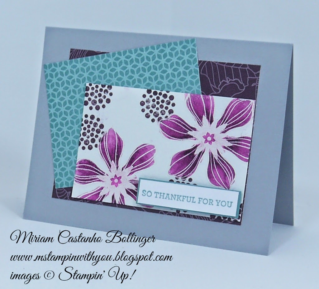 Miriam Castanho Bollinger, #mstampinwithyou, stampin up, demonstrator, sssc260, flower pot dsp, park lane dsp, heat embossing, beautiful bunch, su