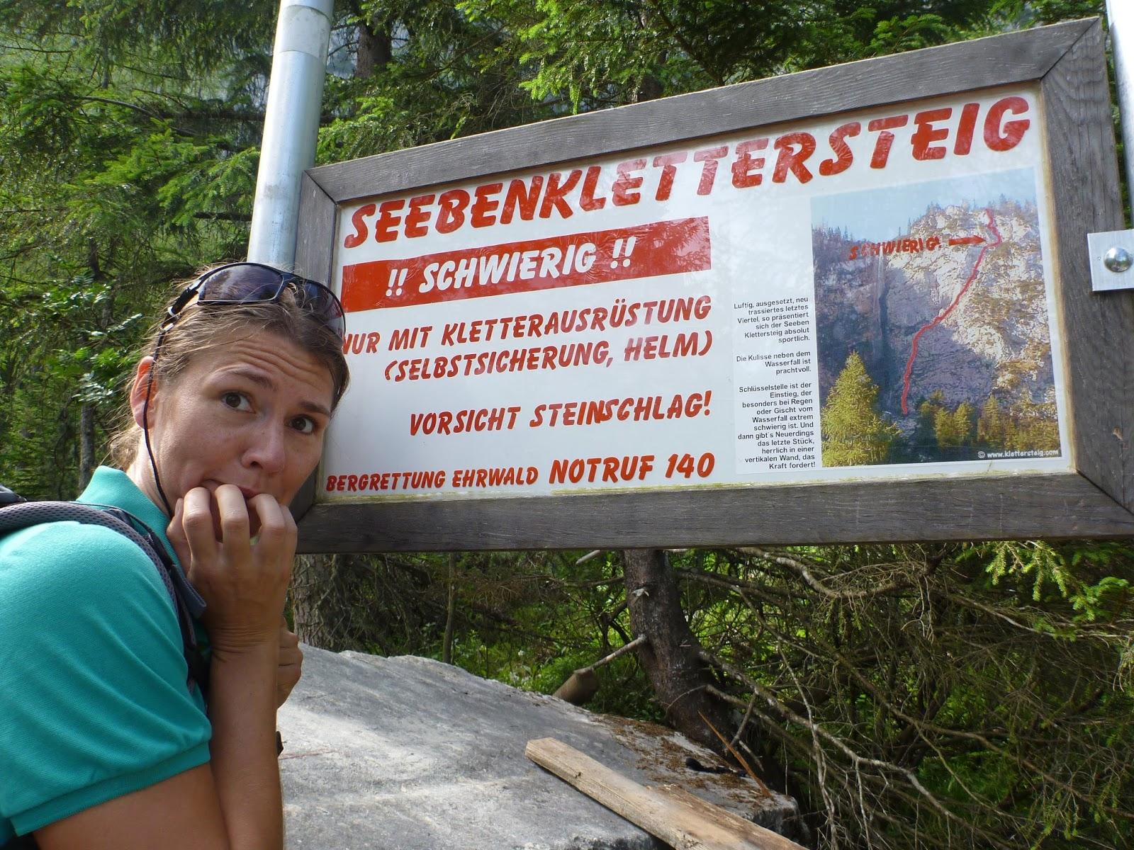 Klettersteig Ehrwald : A sheep abroad seeben klettersteig seebensee at