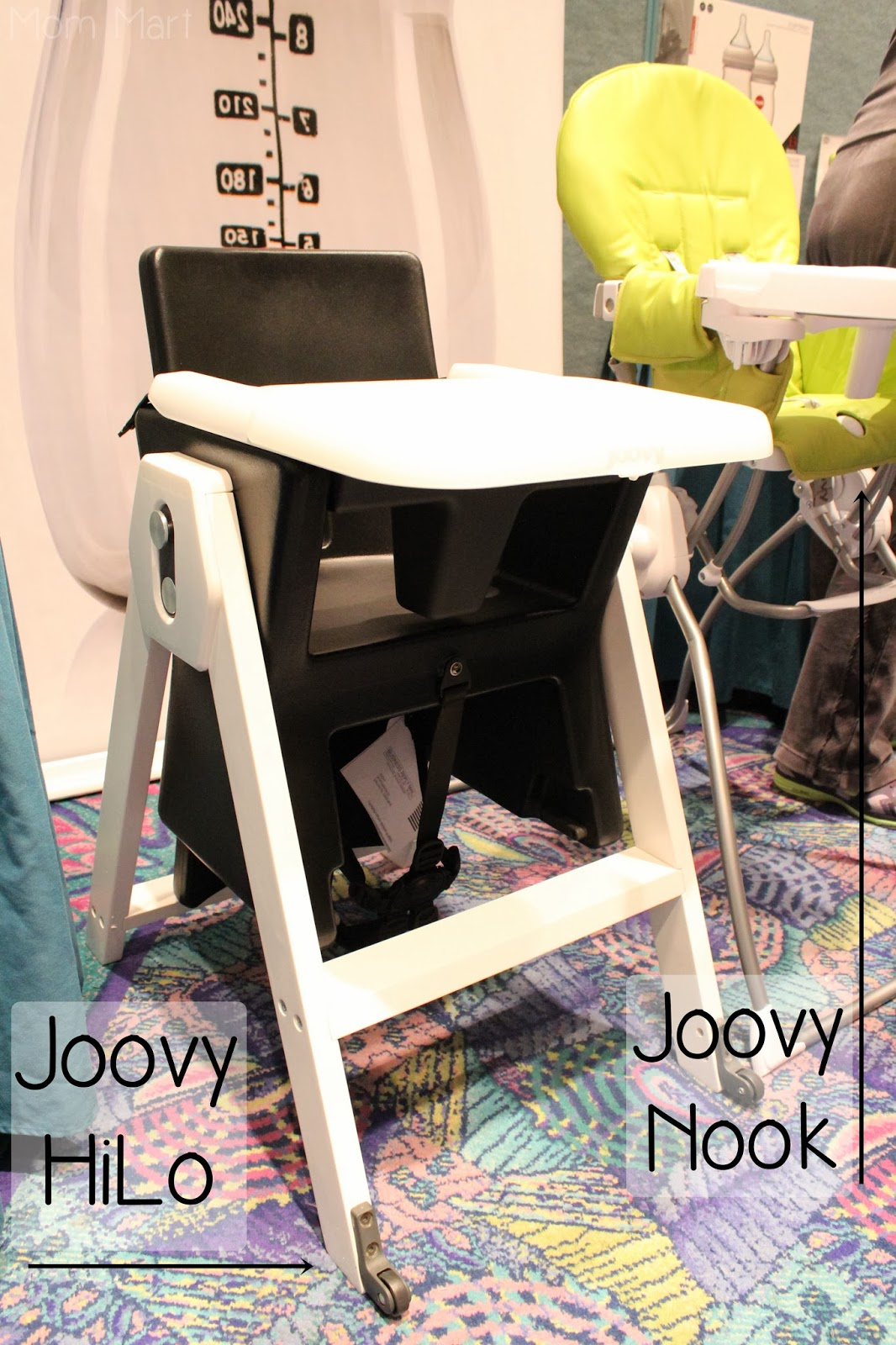 2014 Joovy HiLo and Nook Highchairs side by side at #MommyCon #MommyConChicago
