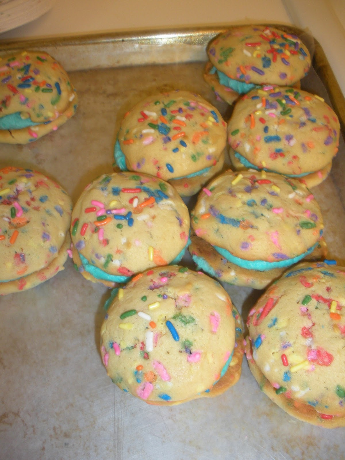 Birthday Cake Whoopie Pies Adapted From By Sarah Billingsley And Amy Treadwell