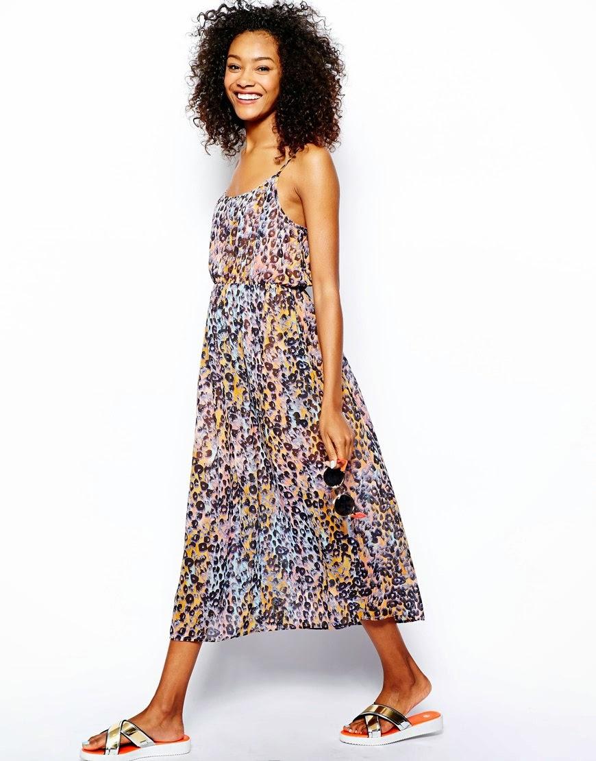 coloured leopard dress