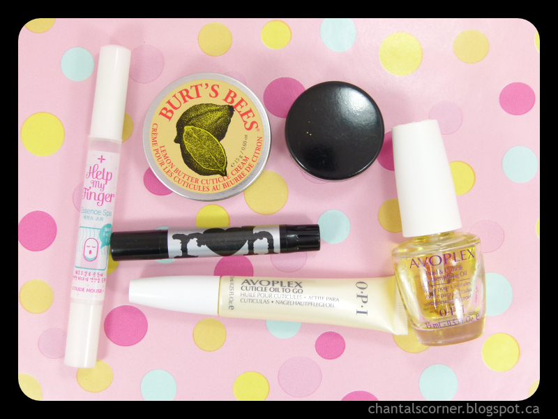 Chantal's Corner's cuticle care essentials