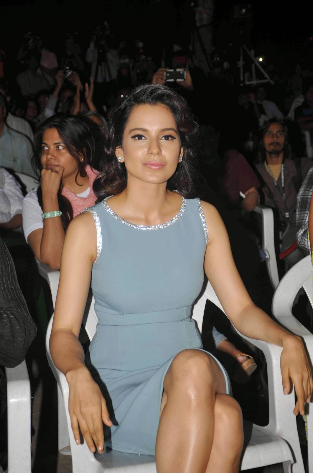 Kangana Ranaut & Lisa Haydon at Audio release of 'Queen'