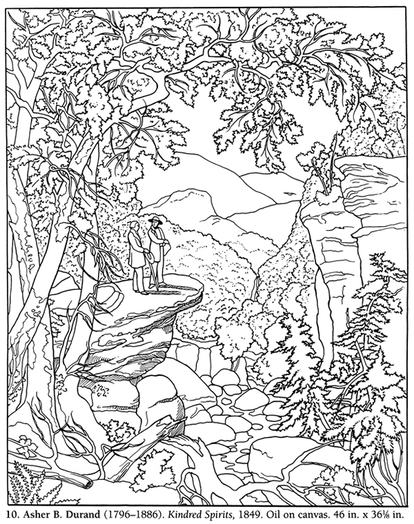 american landscape coloring pages