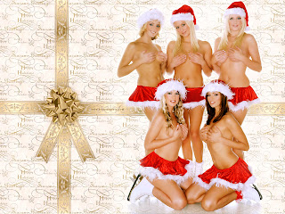 Free Download Naked Christmas Girl Wallpaper
