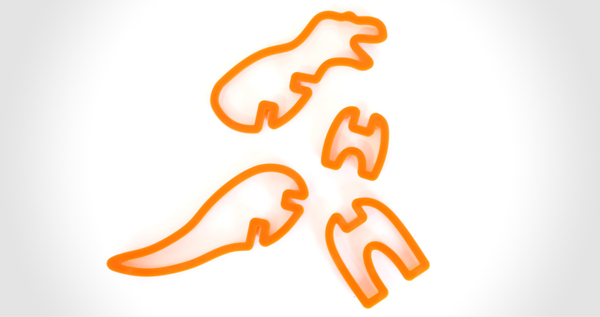 3D Dinosaur Cookie Cutters