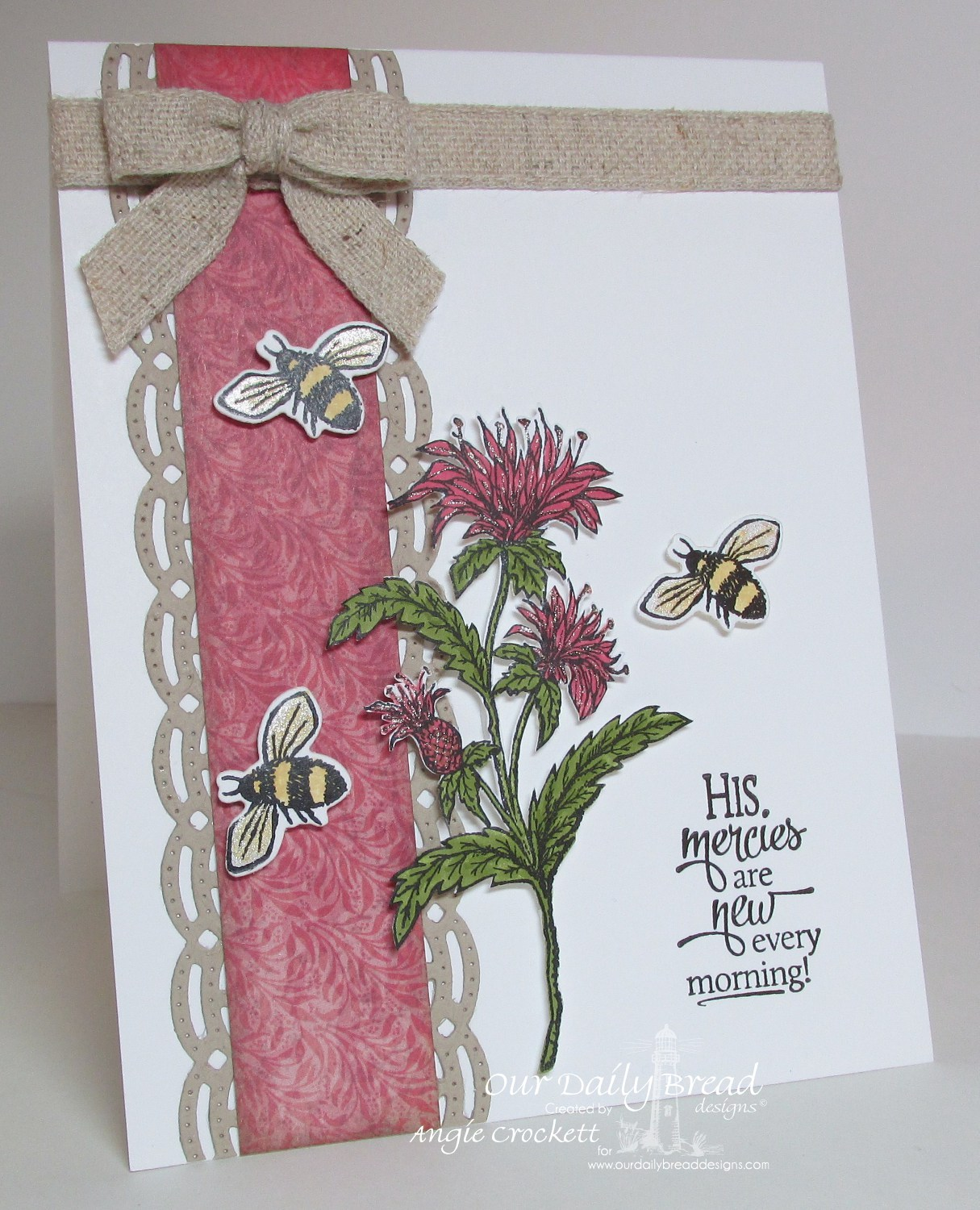 Stamps - Our Daily Bread Designs Sentiments Collection 3, Bee Balm, ODBD Blooming Garden Paper Collection, ODBD Custom Beautiful Borders Dies, Zinnia, ODBD Custom Zinnia and Leaves Die