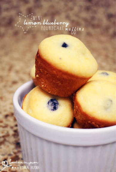 Hearts in My Oven: Mini Lemon Blueberry Poundcake Muffins