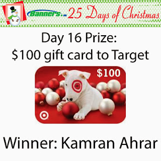 Banners.com 25 Days of Christmas Giveaway - Day 16 Winner