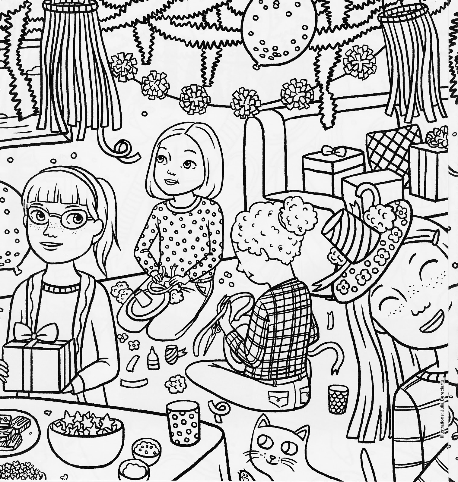 american girl magazine special birthday coloring page - Birthday Coloring Pages Girls
