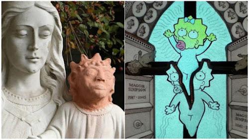 Restauração polêmica no Canadá deixa imagem de menino Jesus com aparência de Maggie Simpson